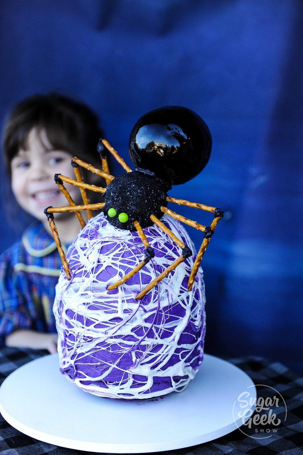 spider egg cake