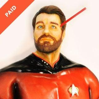 Star Trek Bust Cake Tutorial