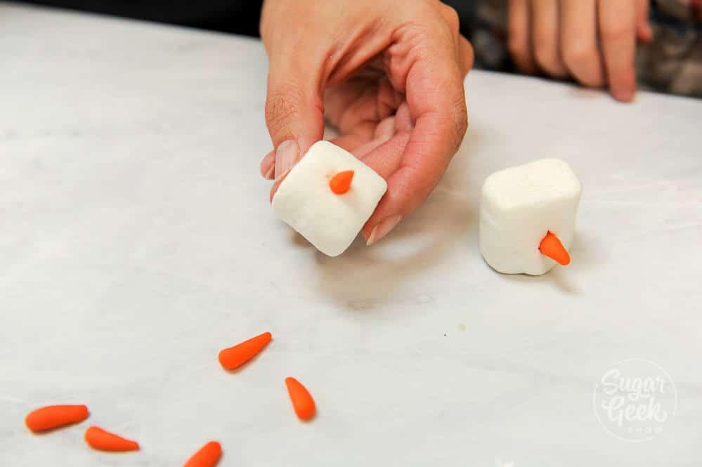 melting snowmen cookies