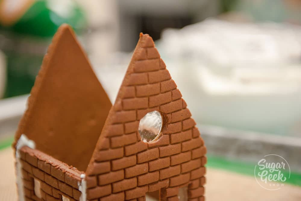 clear gingerbread house windows