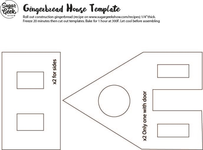 gingerbread house pattern