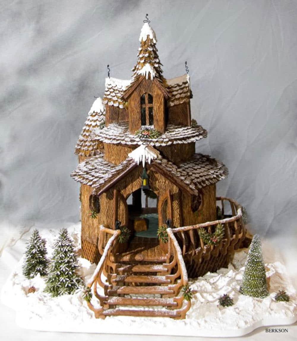 Grand price winner Patricia Howard's winning gingerbread house display