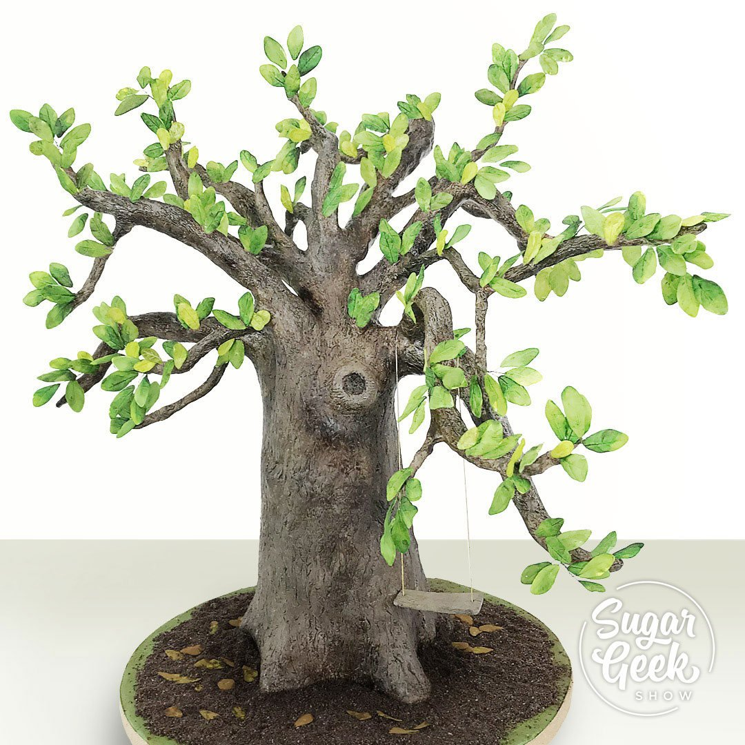 Guest instructor Sara Weber from Sara's Sweets in Austin, Texas is back with another lovely nature-inspired cake tutorial. In this tutorial, Sara demonstrates how to create a Live Oak tree cake design, complete with a tree swing and all sorts of natural details.