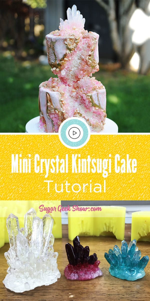 Mini Crystal Kintsugi Cake Tutorial