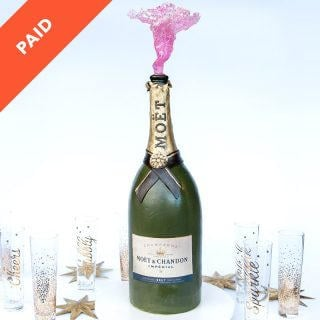 Champagne Bottle Cake Tutorial
