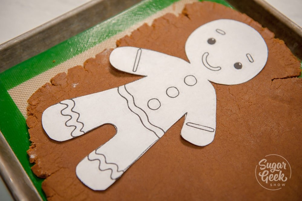giant gingerbread man template