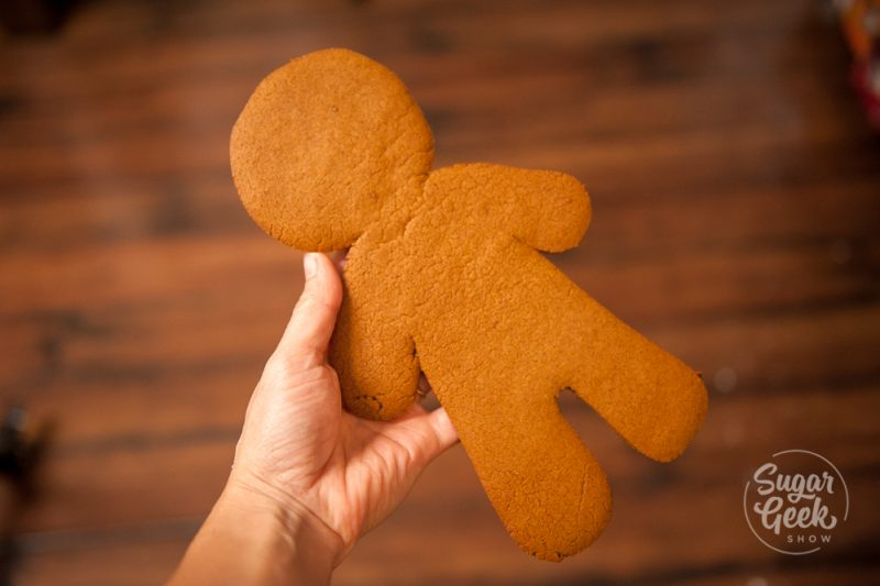 giant gingerbread man cookie