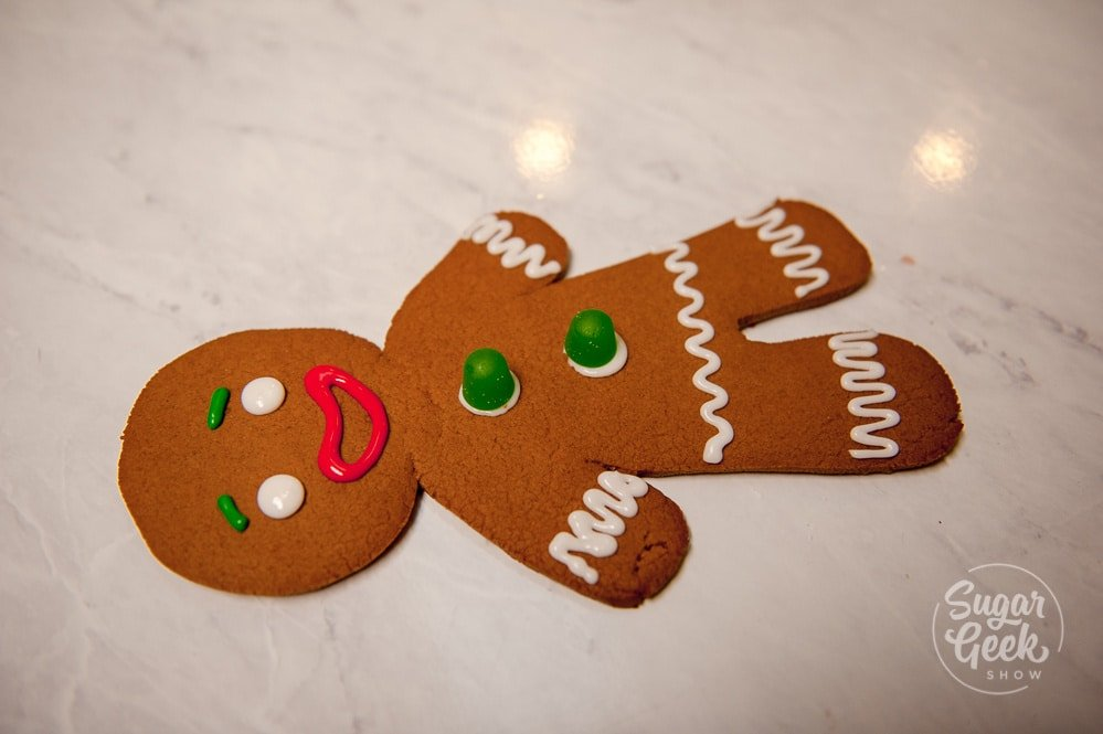 giant gingerbread man cookie decorating