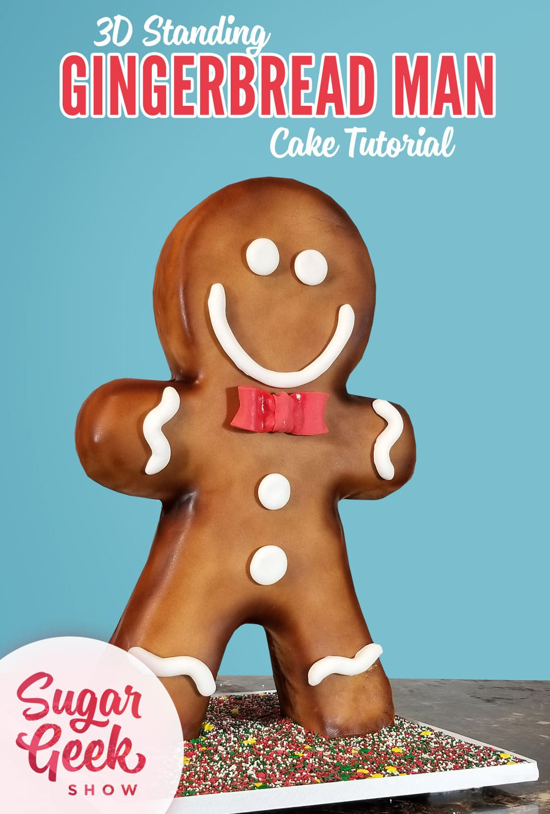 giant gingerbread man cake