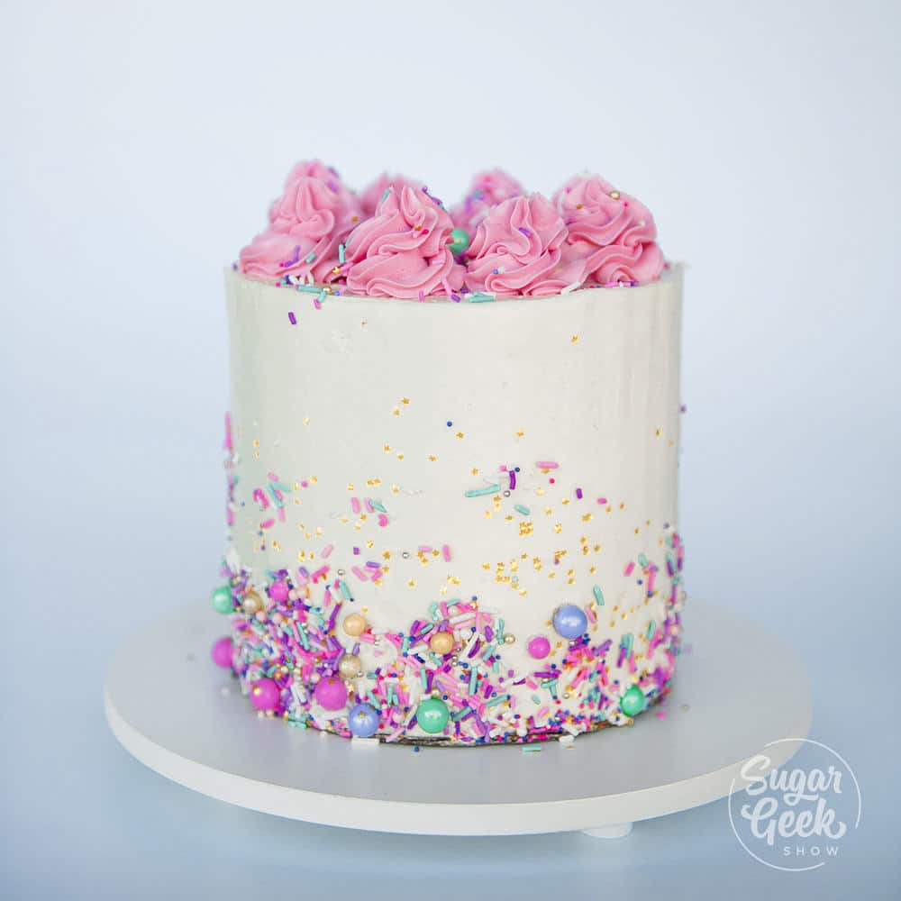 How To Decorate Your First Cake (Step By Step) + Video