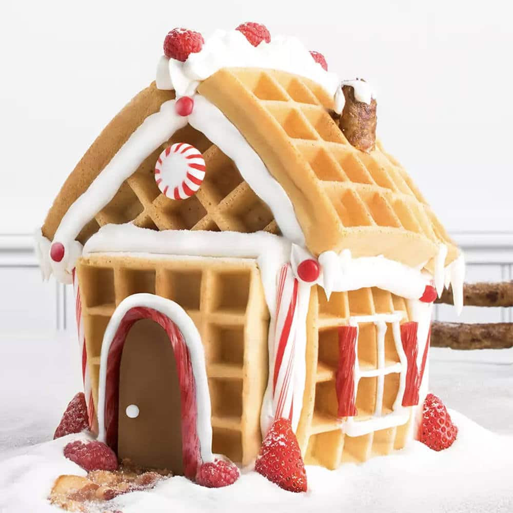 waffle gingerbread house