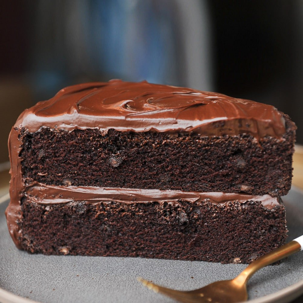 Triple Chocolate Cake + Chocolate Frosting (From Scratch