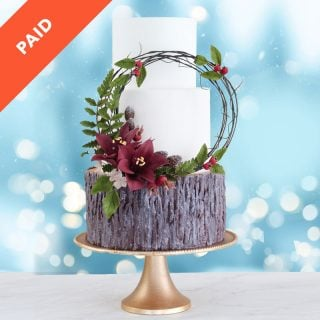 Winter Wonderland Wedding Cake Tutorial