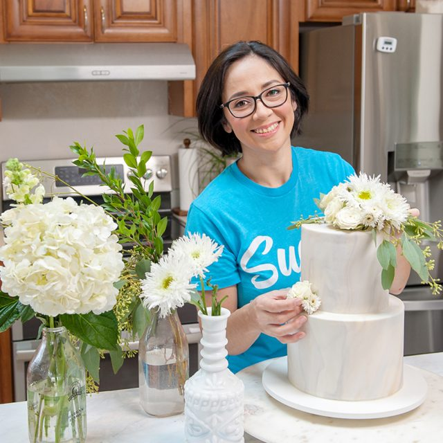 how to put fresh flowers on cake and how to make them food safe