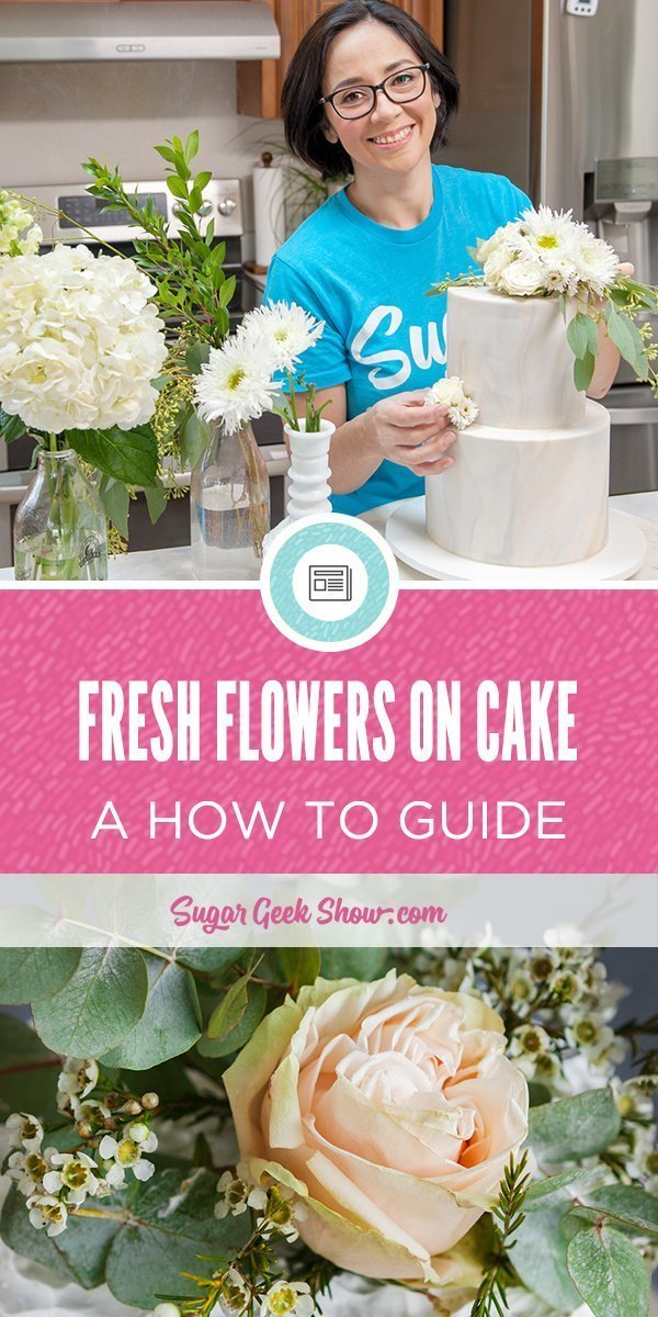 Fresh flowers on cake make a stunning cake decoration but it's important to make them food safe! Fresh flowers contain pesticides and some flowers are even poisonous. Make sure you're not adding toxic flowers to your cake with this fresh flowers on cake guide