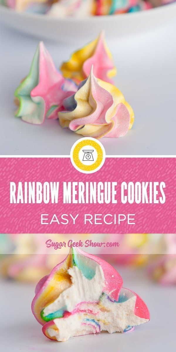 how to make rainbow meringue cookie recipe