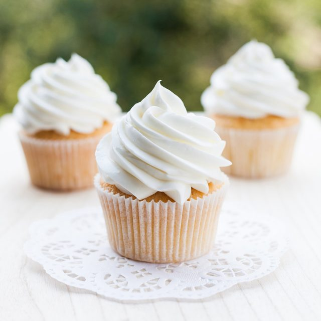The best vanilla cupcake recipe made with buttermilk and oil. This vanilla cupcake recipe is super light, fluffy and moist!