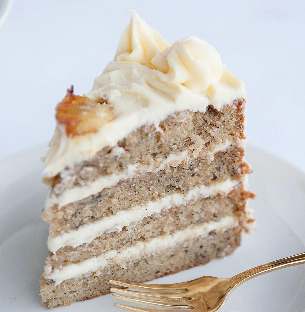 Banana Cake With Cream Cheese Frosting Sugar Geek Show