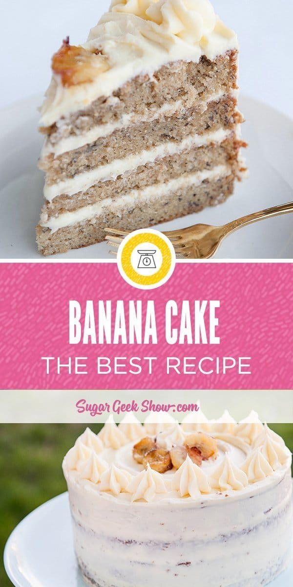 This is the best banana cake recipe I've ever had! The secret is frozen bananas and the perfect cream cheese frosting. Your family will love this cake!