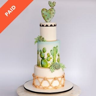 Cocoa Butter Cactus Cake