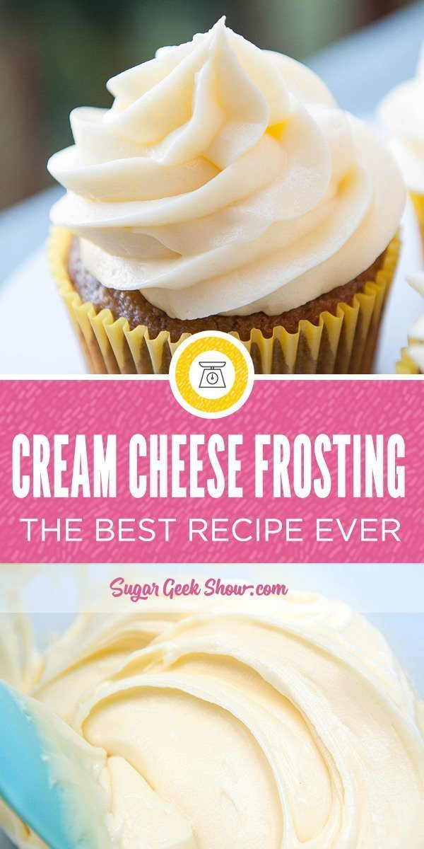 the best cream cheese frosting recipe! Super creamy, tangy and soooo good on cakes and cupcakes! You are going to love this cream cheese frosting recipe!