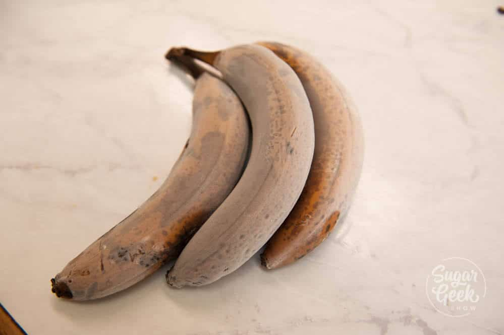 frozen bananas for banana cake