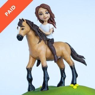 Horse & Rider Cake Topper Tutorial