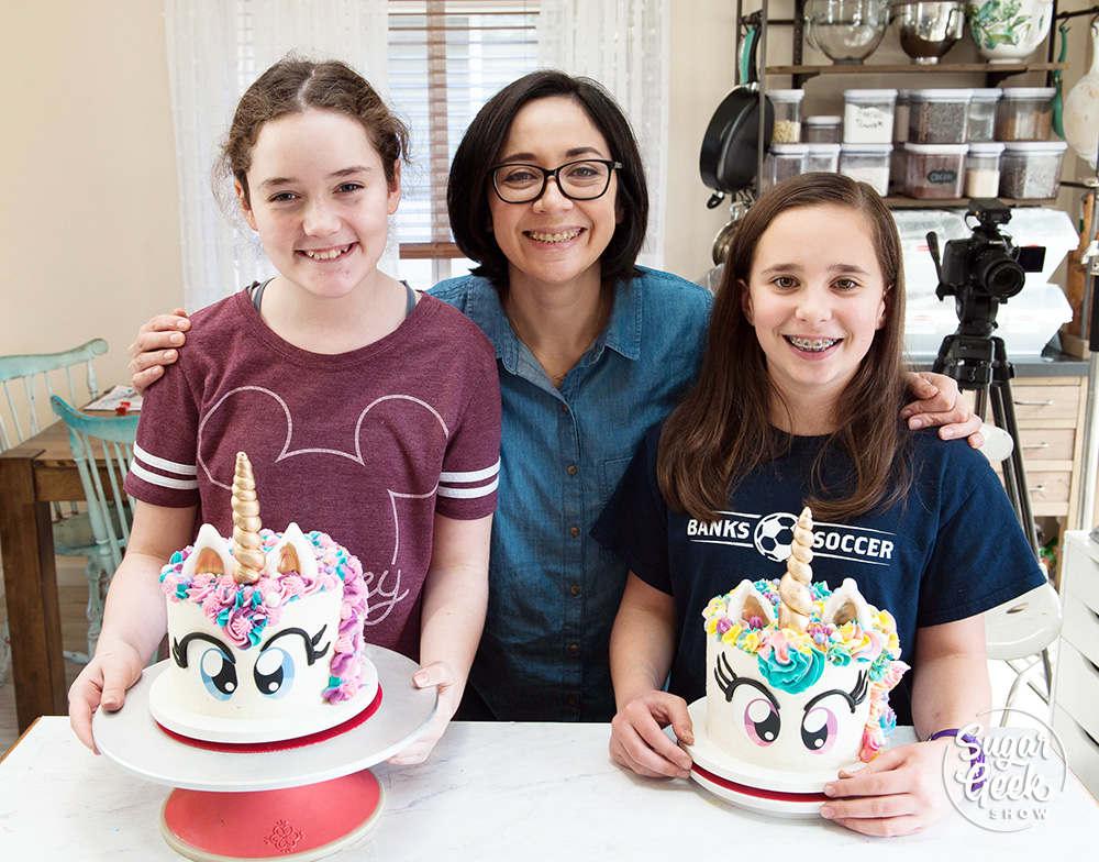 kids unicorn cake class