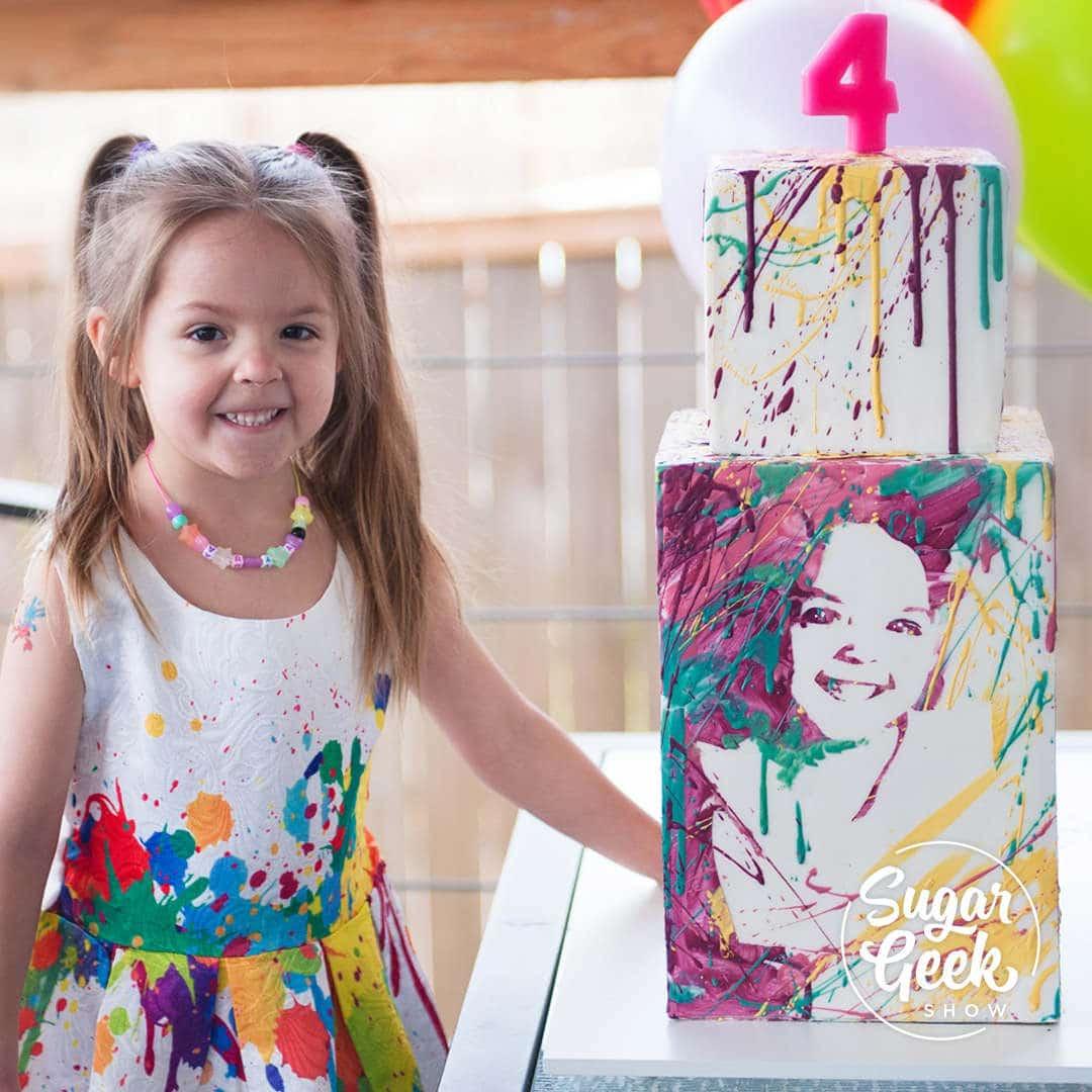 Splatter Portrait Cake Tutorial