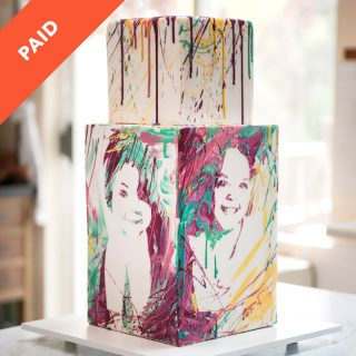 Splatter Portrait Cake Tutorial