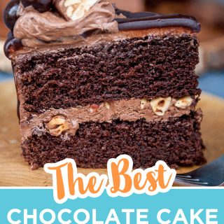 pinterest image for the best chocolate cake recipe