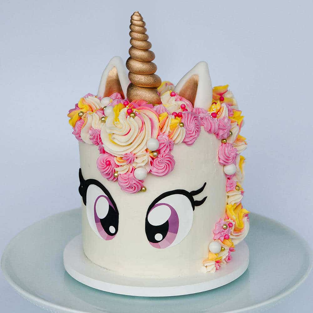 Unicorn Cake Tutorial + Free Eye Printable | Sugar Geek Show