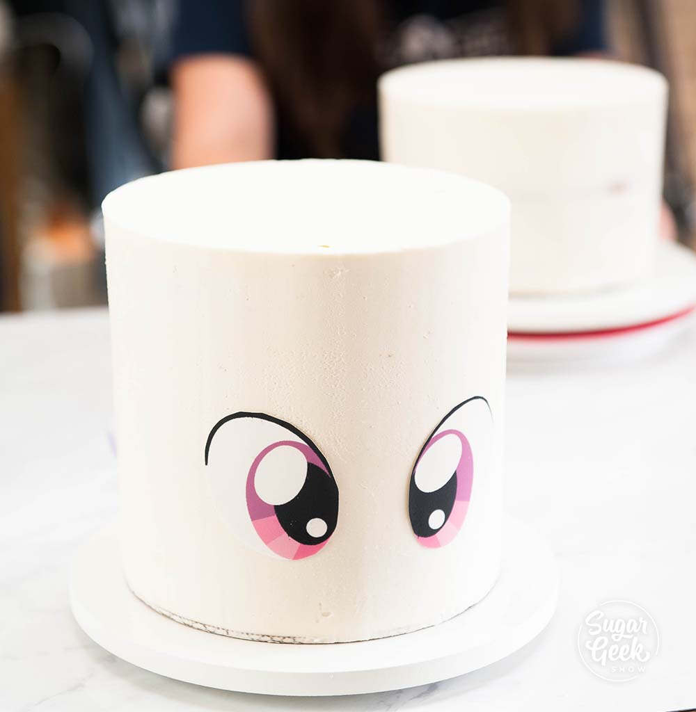 how to make unicorn cake eyes