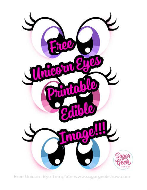 graphic about Printable Eye identify Printable Unicorn Eyes Template - Floss Papers