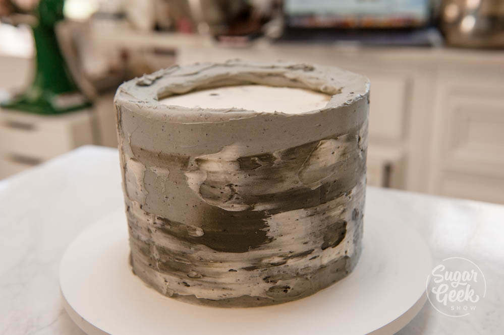 concrete textured buttercream