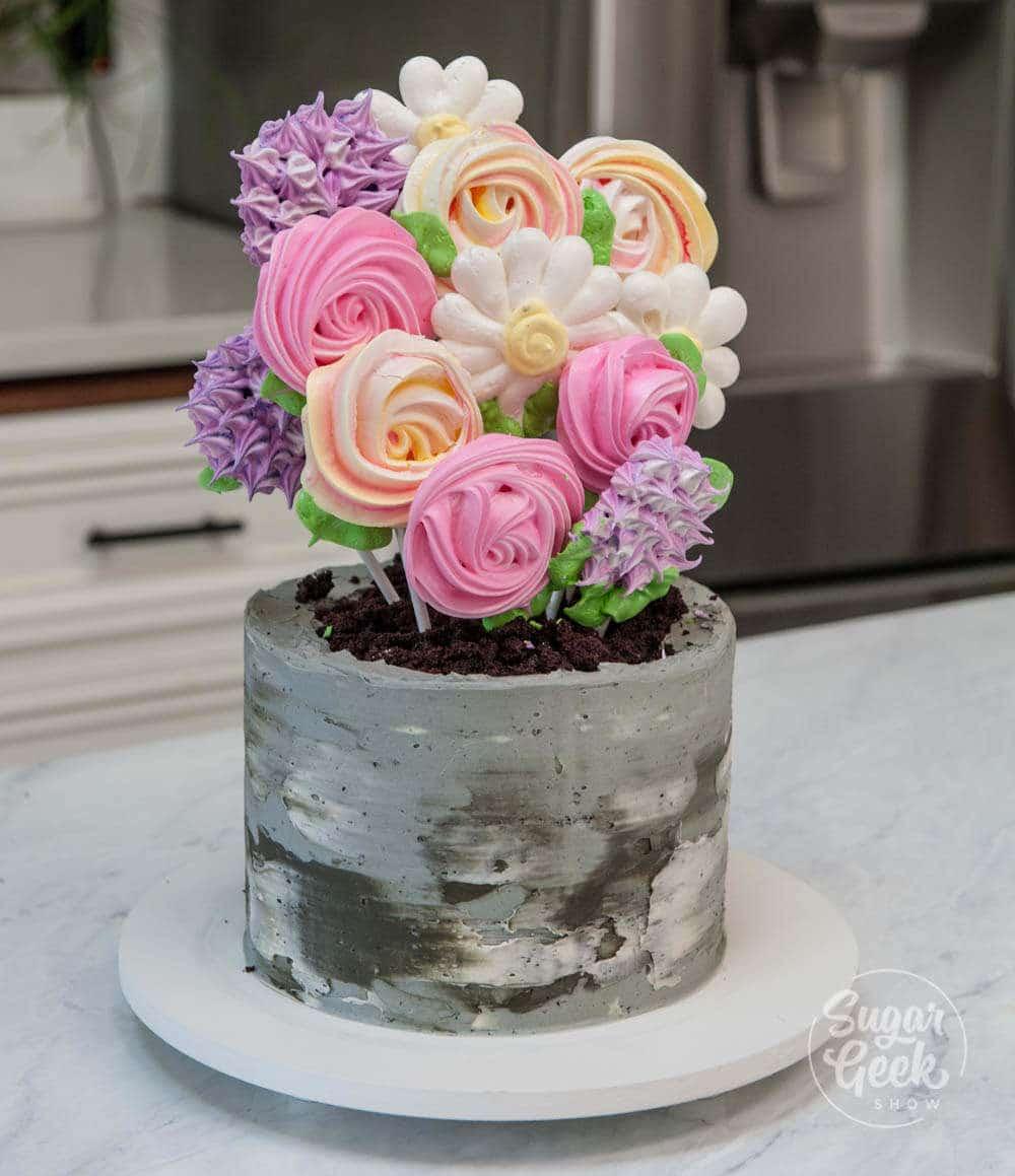 meringue pop cake