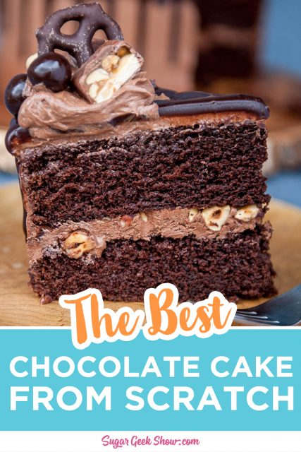 pinterest image for the best chocolate drip recipe
