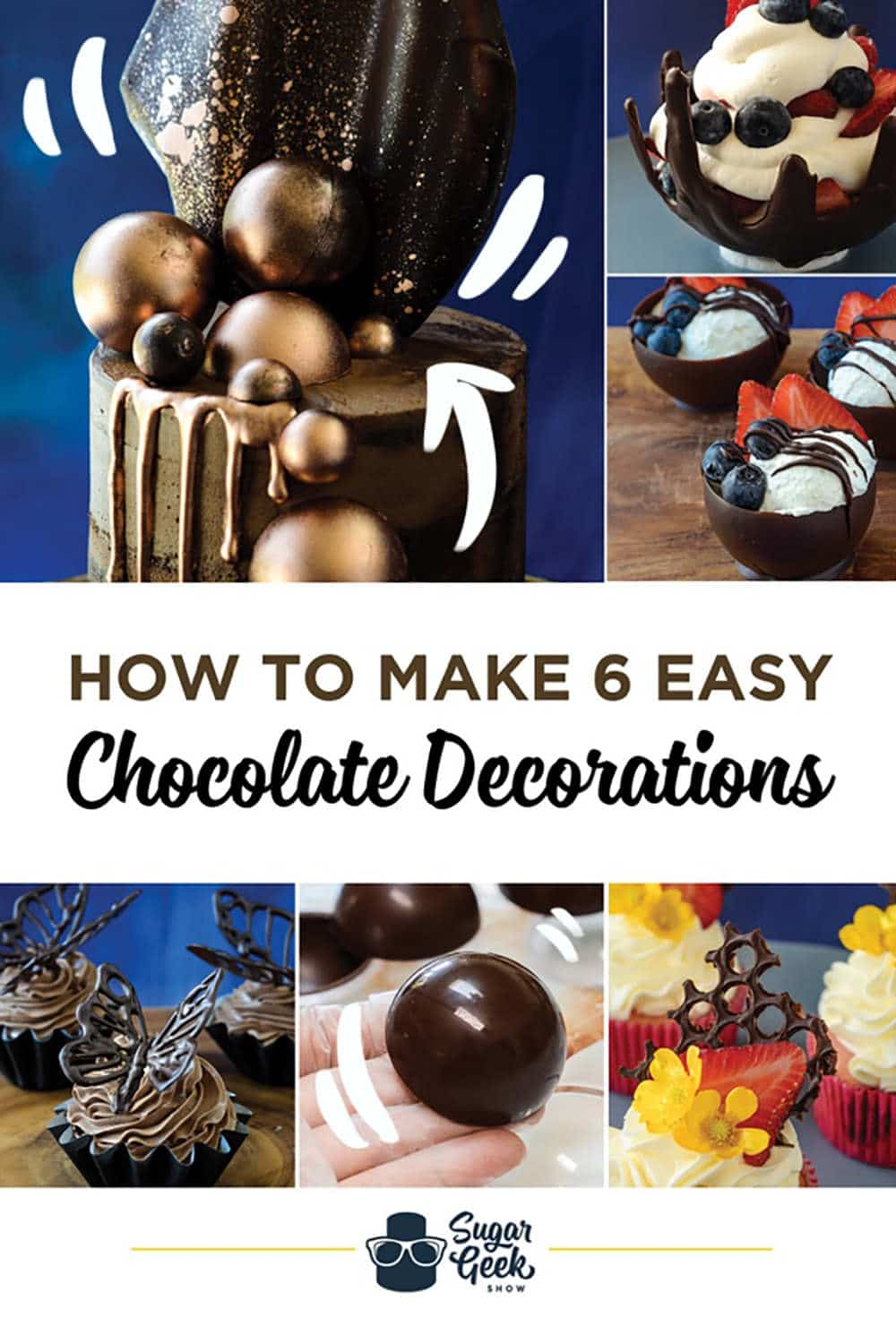 how to make 6 easy chocolate decorations