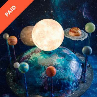 Solar System Space Cake Tutorial