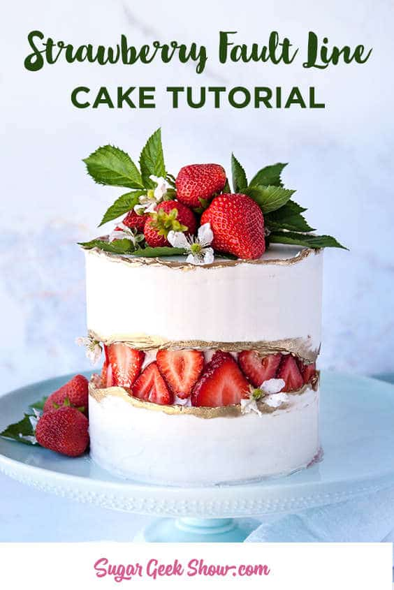 Have you tried a fault line cake yet? Learn how to make this trending cake with fresh strawberries! The coolest thing about this cake trend is that it's so unique and you can really do a lot of different things with the design from sprinkles to cookies! Check out #faultlinecakes on Instagram for even more inspiration!
