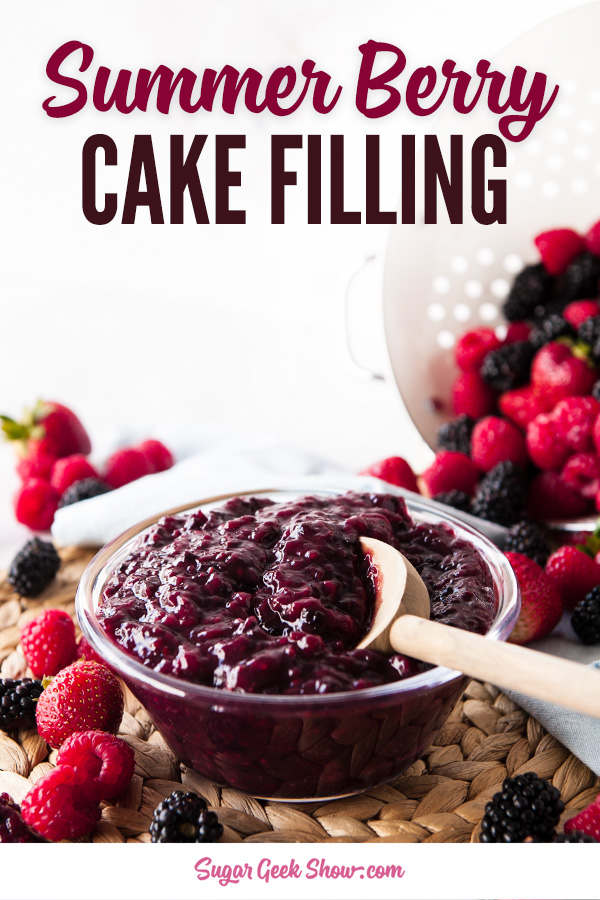 berry cake filling is a great way to use up those leftover summer berries! All you need is some berries, sugar, cornstarch and a lemon