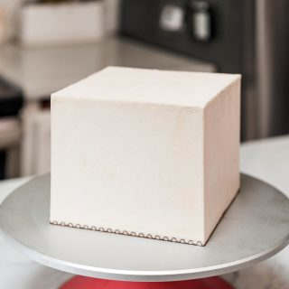 square buttercream cake