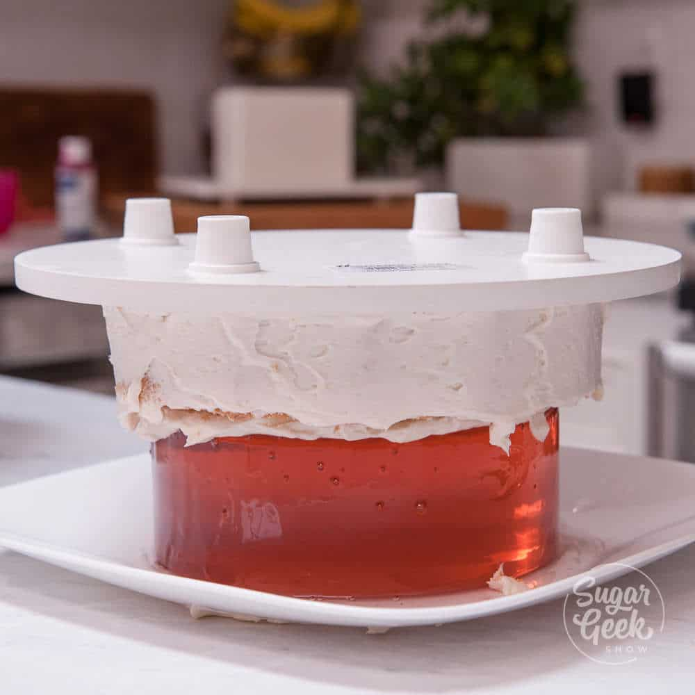 how to make a wine gummy fault line cake