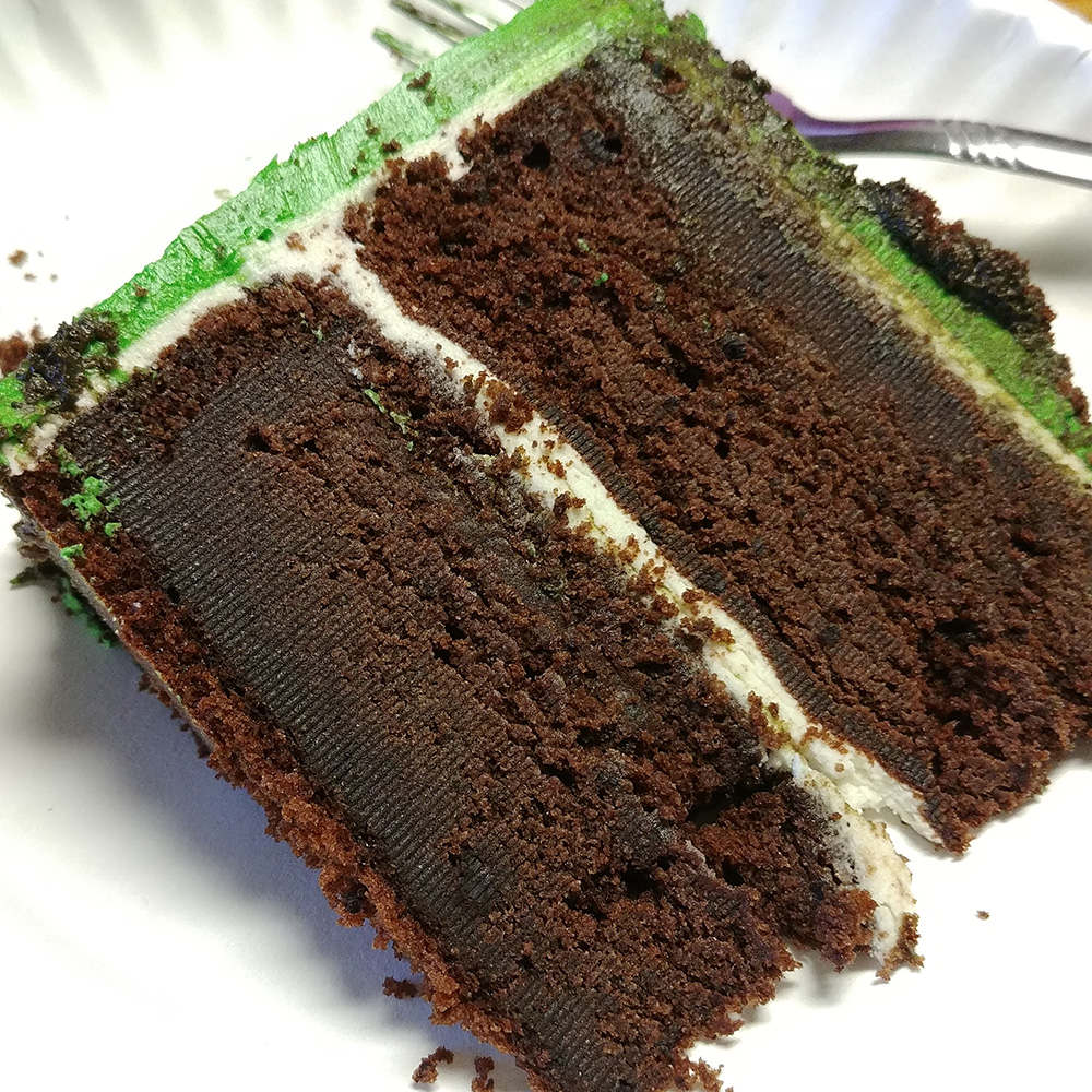 cake baked with ingredients that where not room temperature