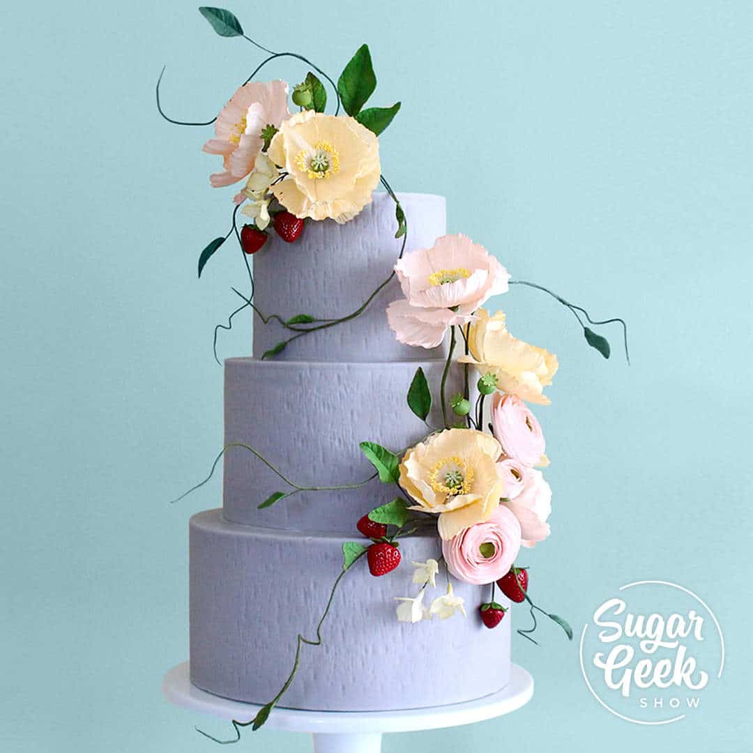 Floral Cascade Sugar Flower Tutorial on sugargeekshow.com