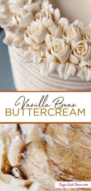 pinterest image for vanilla bean buttercream
