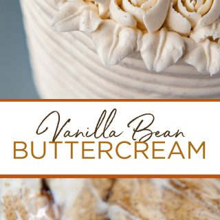 pinterest image for vanilla bean buttercream