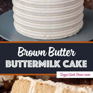 pinterest image for brown butter buttermilk cake