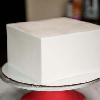 Finished fondant paneled cake
