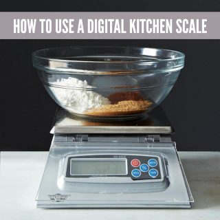 How to measuring ingredients using a kitchen scale